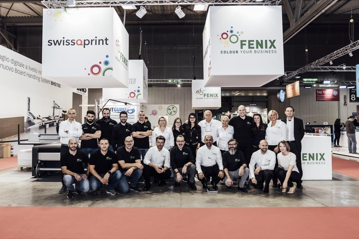 Il Team del Partner Tecnologico Fenix Digital Group a Viscom Italia 2019
